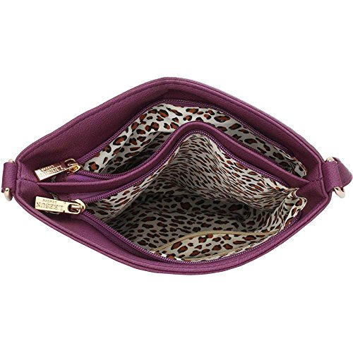 Trendstar Handtasche Der Frauen Querkörper Konstrukteur Damen Schulterkunstleder Messenger Tasche Lila