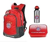 FC Bayern München 3tlg. Rucksack Set mit Brotdose und Alu-Trinkflasche z.B. für die Freizeit 21535