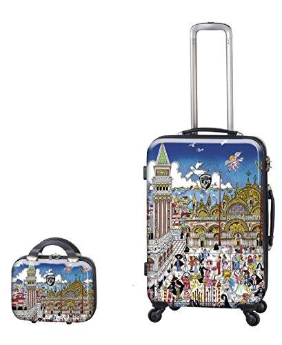 Sets de Bagages, valises - Première Classe Valise Rigide Set 2 pièces - Heys Artistes Fazzino Venise Trolley avec 4 Roues Mèdias + Cas de beauté