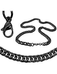 Collar Cadena O Pulsera Ø 12mm Acero Inoxidable Sólido Negro Plata Oro 22-100cm Cadena Rey Eslabones Hombre Mujer Enlace