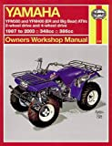Yamaha Atvs Timberwolf, Bruin, Bear Tracker, 350er and Big Bear 1987 - 2009 (Haynes Service & Repair Manuals)