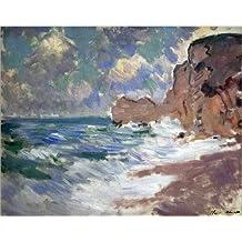 Alu Dibond 50 x 40 cm: Receding Waves de Claude Monet / Bridgeman Images