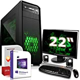 Komplett PC Set Office/Multimedia|Windows 10 Pro 64-Bit|AMD Dual-Core A4-6300 2x3,9GHz Turbo|Radeon HD 8370D|22 Zoll TFT Monitor|8GB DDR3 RAM|500GB HDD|USB 3.0|HDMI|Computer|3 Jahre Garantie