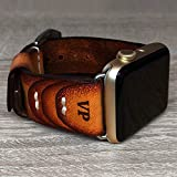 Apple Watch Strap Hand stitched vintage genuine leather Apple Watch Band 38mm 42mm
