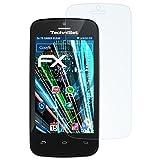 atFolix Panzerfolie für Technisat TechniPhone 4 Folie - 3 x FX-Shock-Clear stoßabsorbierende ultraklare Displayschutzfolie