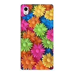 Art Sunflower Print Back Case Cover for Xperia M4 Aqua