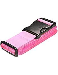 2X Demarkt Kofferband Koffergurt Gep/äckgurt Extra lang mit Sicherheitsverriegelung der Schnalle Rosa