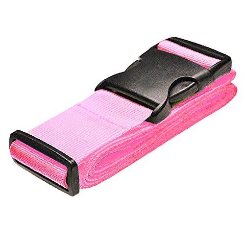 Gelenkbuchse Koffergurt Gepäckgurt Kofferband Gepäckband Gepäckgurt Kofferriemen Reise 100-188CM (Pink)