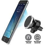 Handyhalterung Auto Lüftung KFZ Magnet Universal, BEZ Smartphone Autohalterung magnetische universelle Autohalterung passend für alle iPhonesschwenkbarer Kugelkopf für 360 Rotation - Schwarz / Grau