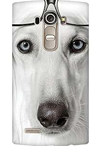 AMEZ designer printed 3d premium high quality back case cover for LG G4 (nerdy dog)