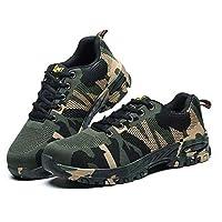 Steel Toe Work Shoes for Men Work Steel Toe Shoes Industrial Steel Toe Shoes for Women and Men Camo Steel-Toe Safety Sport Shoes Lightweight Industrial Construction Shoe EU 42