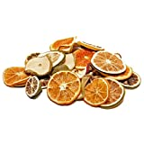 250gr. getrocknete Orangenscheiben / Apfelscheiben / Limettenscheiben im Mix - ideal zum Basteln und Dekorieren (Grundpreis 3,20 € pro 100g)