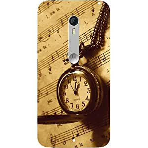 Casotec Pocket Watch Print Design Hard Back Case Cover for Motorola Moto X Style