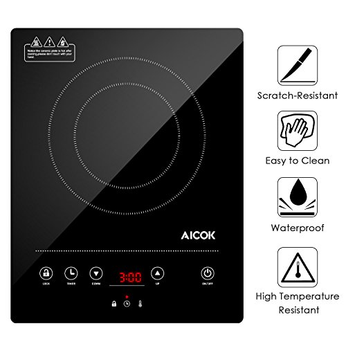 Aicok Plaque à Induction, Réchaud Électrique avec 10 niveaux...