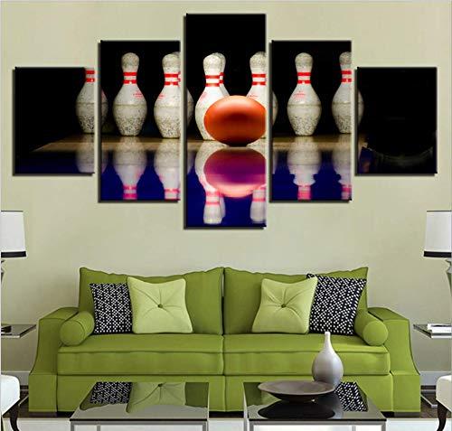 UPUPUPUP Moderne dekorative malerei Inkjet Hause Gym 5 Mural Mode American Bowling, 20x30cm x 2 20x40cm x 2 20x50cm x 1 mit Rahmen