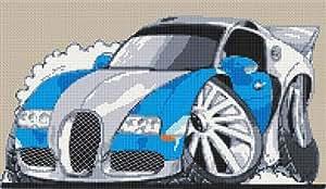 Bugatti Veyron Kit broderie pour point de croix Motif