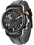 Police Boa Men's Quartz Watch with Black Dial Analogue Display and Black Leather Strap 14250XSB/02