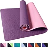 IUGA Non Slip Yoga Mat with Carry Strap, Eco Friendly & SGS Certified