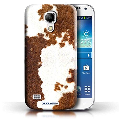 Coque en plastique pour Samsung Galaxy S4 Mini Collection Motif Fourrure Animale - Zèbre Vache/Brown