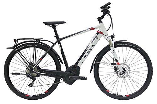 Herren E-Bike 28 Zoll schwarz Weiss - Pegasus Premio Evo10 Cross Street - Elektrofahrrad 500Wh Akku, 10 Gänge