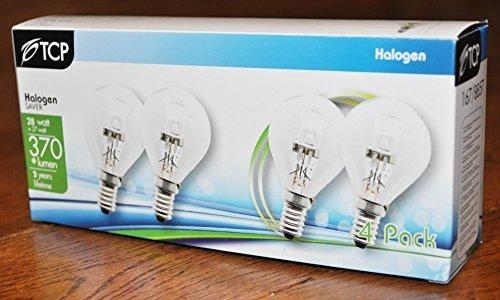 Pack of 12 G45 Golf Ball / Mini Globe ECO Halogen 28w = 37w Dimmable Energy Saver Light Bulbs E14 SES Small Edison Screw Cap 240v 28w (3 Packs of 4 bulbs = 12 bulbs)