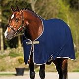 Amigo Couverture d'extérieur pour cheval Noir/noir et blanc Navy/Tan 6-3'