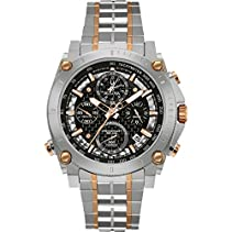 Bulova Herren-Armbanduhr Precisionist Chronograph Analog Quarz Edelstahl