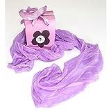 My Custom Style® Foulard lilla in poliestere cm 16x130 in elegante scatolina da regalo in tinta col prodotto e compresa nel prezzo, disponibile in 8 diversi colori pastello assortiti.