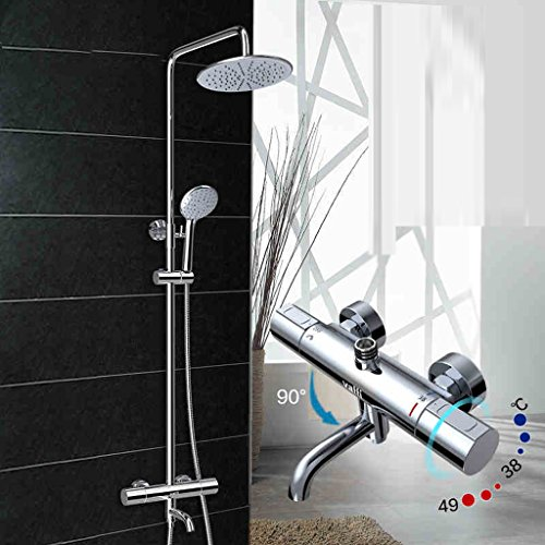 Vollbad mit Regenduschen Anzug Kupfer Wasserhahn intelligente Thermostat-Brausegarnitur