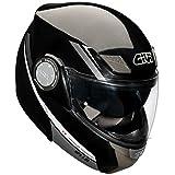 GIVI HPS HX08 X-Modulable-Casco pieghevole, colore: nero metallico Grafic, taglia XXL