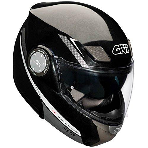 Givi HX08FN90154 Hps Hx08 X-Modular Casco Modular, Color Negro Metálico Grafico, Talla 54/XS