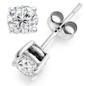 0.85 Carat F/IF Round Brilliant Certified Diamond Solitaire Stud Earrings in Platinum