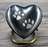 Esplanade Pet a forma di cuore cremazione urna commemorativa Container Jar pot | ottone urns| metal urns| Burial urns| keepsake| Urns commemorativa per animali domestici, cani, gatti