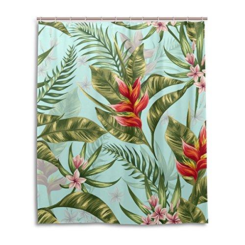 Dusche 152,4x 182,9cm, tropischen Blätter Blumen, Polyester-Schimmelfest-Badezimmer Vorhang ()