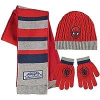 Disney Spiderman - Set 3pz Inverno Cappello Sciarpa e Guanti - Bambino