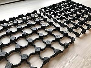 Eco Deck Bodengitter und strapazierfähige Plane, Kunststoff, 4 x 3 m, geeignet für Gartenhäuser/Schuppen von der Größe 3,7 x 3,1/4 x 3,1 m, als Betonplatten und Raster für die Auffahrt geeignet