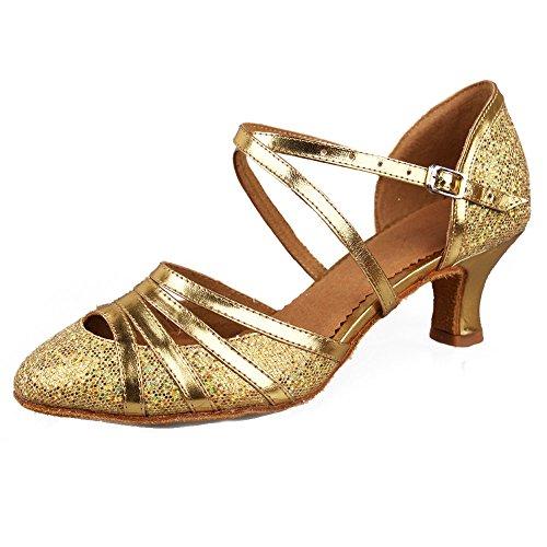 SWDZM Chaussures de Danse Femme Standard Latin/Jazz/Chacha/Ballet Chaussures Cuir Model-FR-DC-512