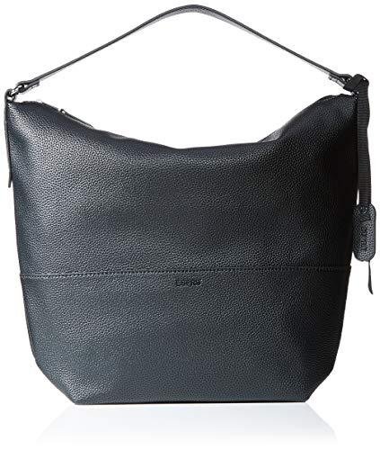Esprit Accessoires Damen Faith Hobo Schultertasche, Schwarz (Black), 14,5x31x23 cm (Hobo Taschen Schwarz)