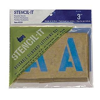 DURO by Graphic Products Stencil-It Oil Board Stencil Set, 3