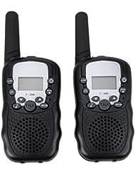 REFURBISHHOUSE Walkie Talkies Gemelos de 8 Canales UHF400-470MHZ Radio de 2 vias 3Km Alcance