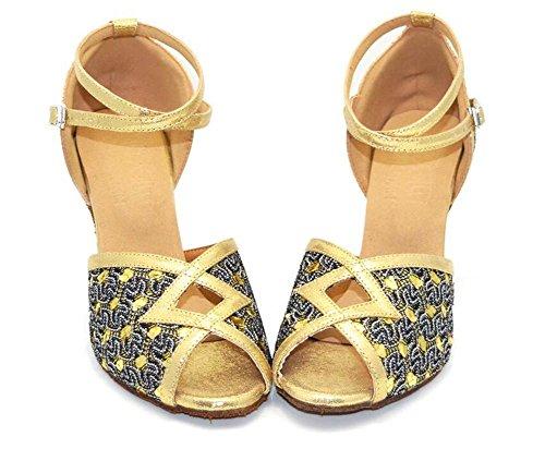 Zapatos De Mujer De Tacón Medio Danza Soft Sole Modern Ballroom Bombas Latinas Tamaño 36 To 41 7.5cm Tacón