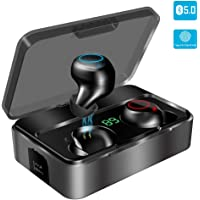 Bluetooth Kopfhörer in Ear, YONMIG Kabellose Bluetooth 5.0 Headset mit 3000mAh Ladebox Wireless Noise Cancelling Earbuds…