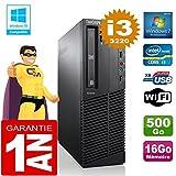 Lenovo PC M92p SFF Core I3-3220 RAM 16 GB Scheibe 500 gb DVD-Brenner Wifi W7
