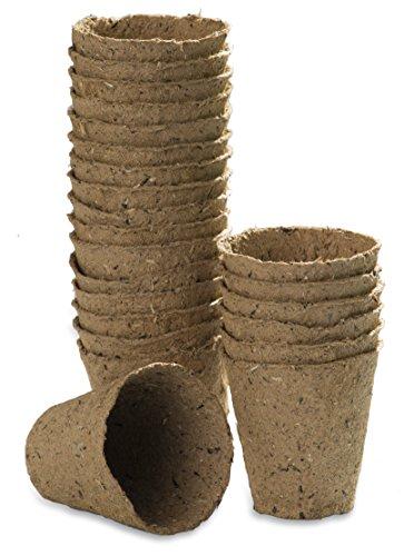 Windhager Anzuchttöpfe Torf, 6 cm, 24 Stück