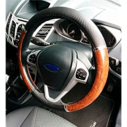 XtremeAuto® Car Steering Wheel Glove Covers (Wooden)