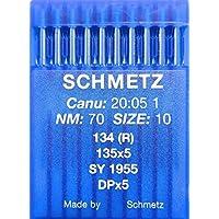 10 Schmetz redondo pistón coser agujas Sistema 134 (R) de la ...