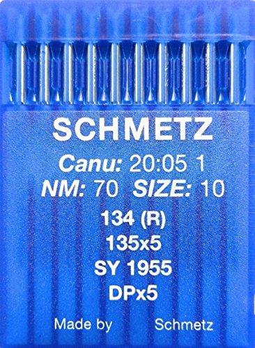 Industrie-nähmaschine (10 Schmetz Rundkolben Nähmaschinen Nadeln System 134 (R) Industrie St. 70)