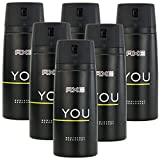 6 x 150ml Axe YOU Deo Deospray Deodorant Bodyspray Herren Parfüm
