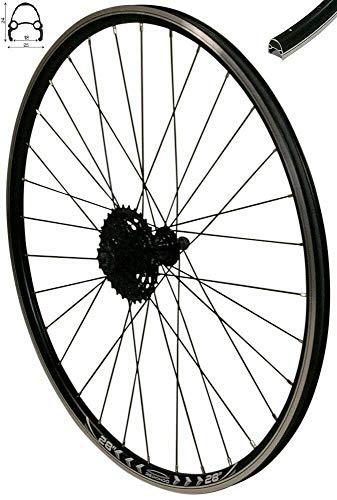 Redondo 28 Zoll Hinterrad Laufrad Felge Schwarz + 9 Fach Shimano Kassette -