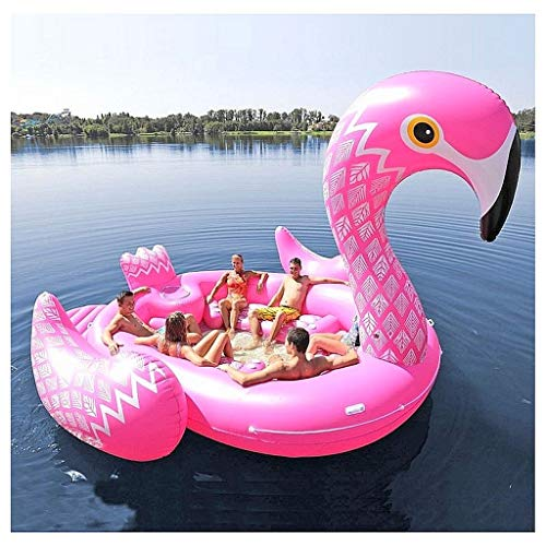 Riesige aufblasbare Flamingo 6 Personen Party Insel (Party Bird Island - Flamingo)